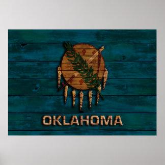 Vintage Flag of Oklahoma Poster