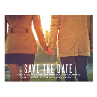 VINTAGE FLAIR SAVE THE DATE ANNOUNCEMENT POST CARD
