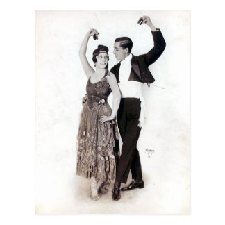 Vintage Flamenco Couple with Castanets Postcard