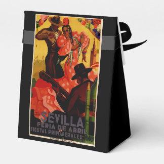 Vintage flamenco dancers Spanish Favour Box