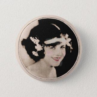 Vintage Flapper 6 Cm Round Badge