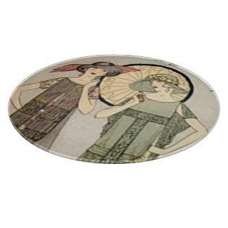 Vintage Flapper Fashion Cutting Board