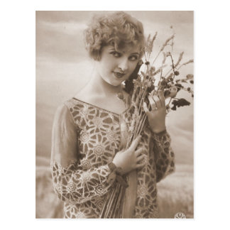 Vintage Flapper Photograph (150) Post Card
