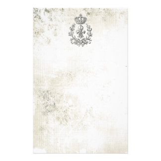 Vintage Fleur de Lis and Crown-notepad Customised Stationery