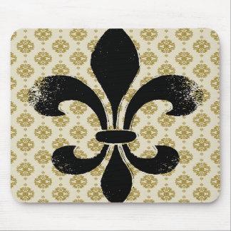 Vintage Fleur de lis Mouse Pad