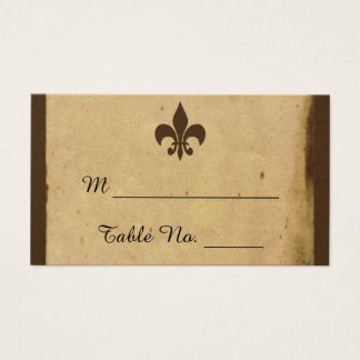 Vintage Fleur De Lis Wedding Place Cards