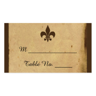 Vintage Fleur De Lis Wedding Place Cards Business Card Template