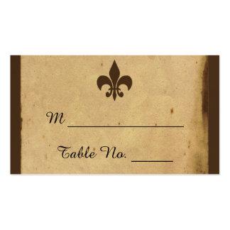 Vintage Fleur De Lis Wedding Place Cards Pack Of Standard Business Cards