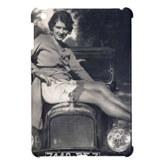 Vintage Flirty Girl on a Car iPad Mini Case