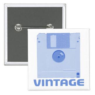 Vintage Floppy Blue Button