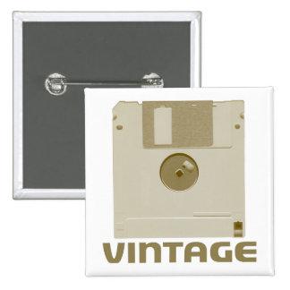 Vintage Floppy Brown Button