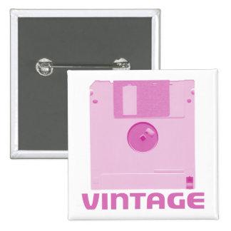 Vintage Floppy Pink Button