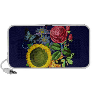 Vintage Flora Travelling Speakers