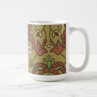 Vintage Floral (25) Basic White Mug