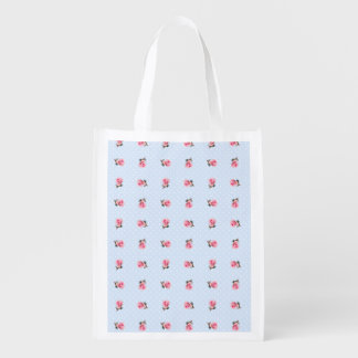 Vintage floral and dots market totes