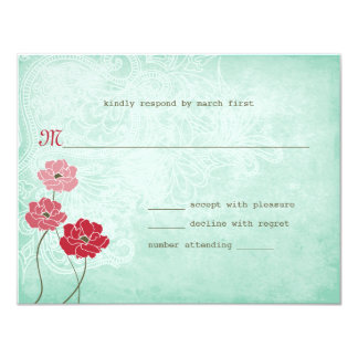 Vintage Floral and Leaves Response Card