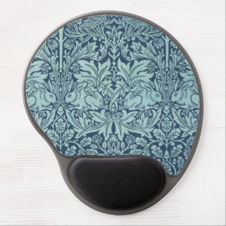Vintage Floral and Rabbits Pattern Gel Mouse Pad