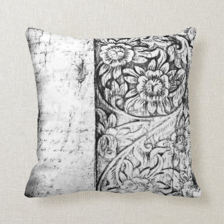 vintage floral and whiting Cushion