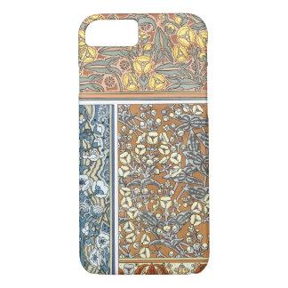 Vintage Floral Art Nouveau, Arrowhead Flowers iPhone 7 Case