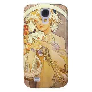 Vintage Floral Art Nouveau Galaxy S4 Cases