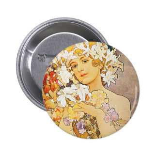 Vintage Floral Art Nouveau Pin