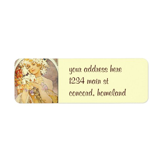 Vintage Floral Art Nouveau Return Address Label