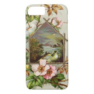 Vintage Floral Birdhouse iPhone 8/7 Case