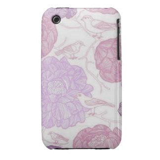 Vintage Floral Birds iPhone 3 Case