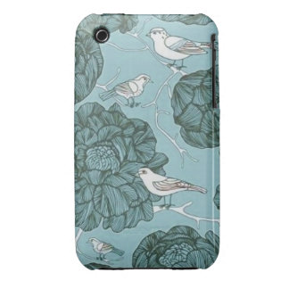 Vintage Floral Birds Case-Mate iPhone 3 Cases