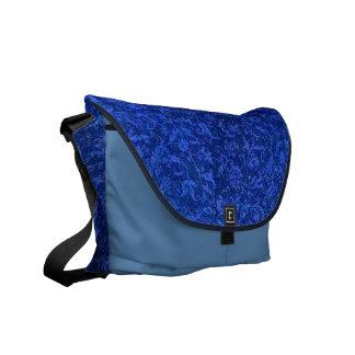 Vintage Floral Blue Messenger Bag