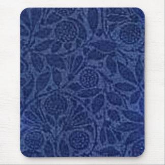 Vintage Floral Blue Mouse Pad