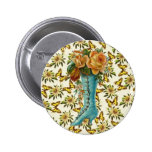 Vintage Floral Boot Buttons