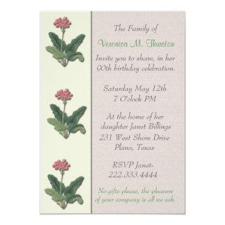 Vintage Flowers Ladies Birthday Cards Invitations