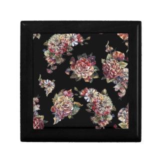 vintage floral bouquet keepsake box
