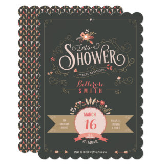 Vintage Floral Bridal Shower Party Invitation