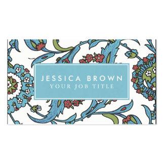 Vintage Floral Ceramic Tile Business Card Template