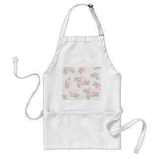 Vintage floral chic pink roses adult apron