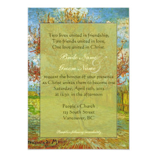Vintage floral Christian wedding invitations. 13 Cm X 18 Cm Invitation Card