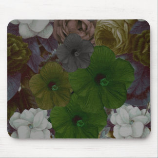 Vintage Floral Collage Mouse Pad