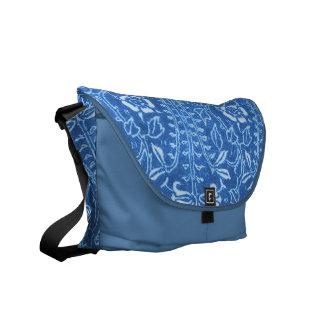 Vintage Floral Cornflower Blue Messenger Bag