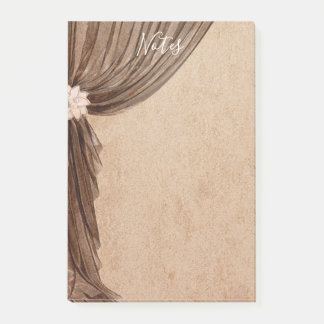Vintage Floral Curtain Post-it Notes