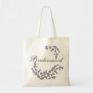 Vintage Floral Custom Bridesmaid Wedding Tote Bag