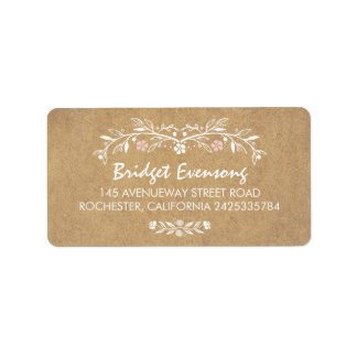 Vintage Floral Cute Wedding Label