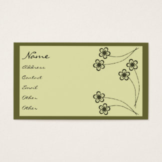 Vintage Floral Deco Profile Card