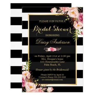 Vintage Floral Decor for Wedding Bridal Shower 13 Cm X 18 Cm Invitation Card