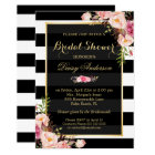 Vintage Floral Decor for Wedding Bridal Shower Card