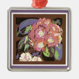 Vintage Floral Christmas Ornament