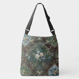 Vintage Floral Design. Crossbody Bag