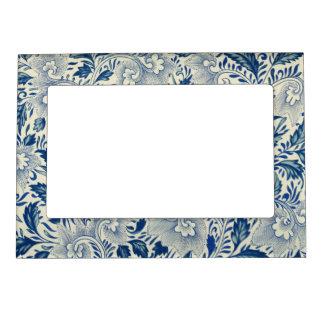 Vintage Floral Design Magnetic Picture Frame