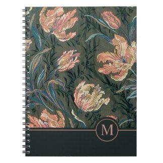 Vintage Floral Design Monogram | Notebook